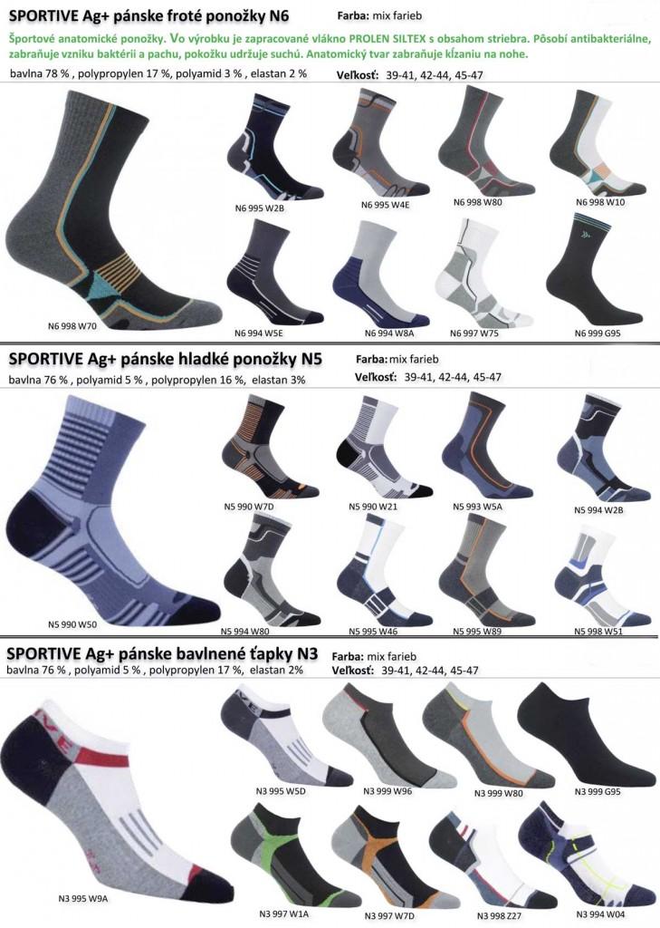 panske ponozky s obsahom striebra